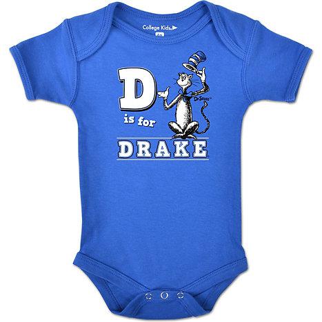 Drake University Dr Seuss Infant Body Suit Drake University