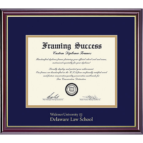 Widener University 14\'\' x 17\'\' Delaware Law School Diploma Frame ...