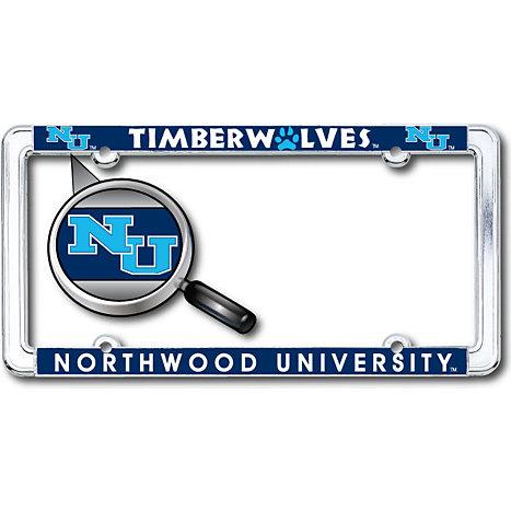 Northwood University - Michigan Woody Thin Dome License Plate Frame ...