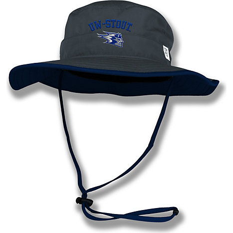 a283604c Product: University of Wisconsin - Stout Blue Devils Drawstring Bucket Hat