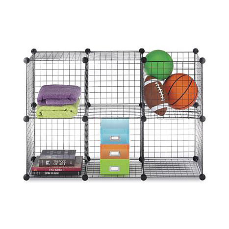 Product: Wire Storage Cubes Set 6 Black   ONLINE ONLY
