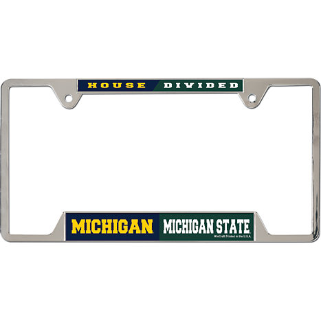 Michigan State University House Divided\' License Plate Frame ...