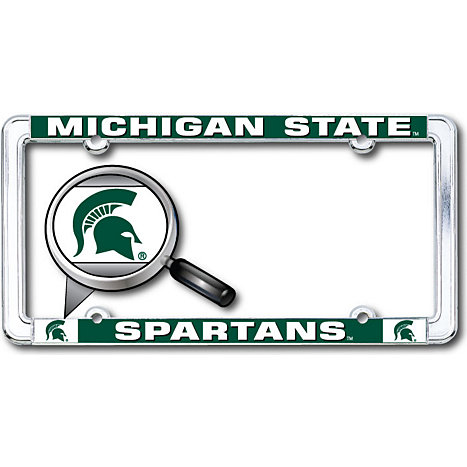 Michigan State University Spartans Thin Dome License Plate Frame ...