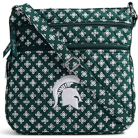 538e340842b905 Product  Michigan State University Spartans Triple Zip Hipster Crossbody