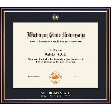 michigan state university 85 x 11 value price scholastic diploma frame - Michigan State Diploma Frame