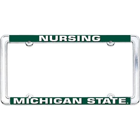 Michigan State University School of Nursing License Plate Frame ...
