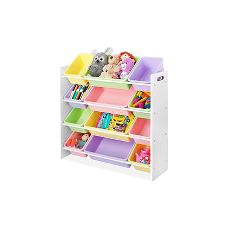 Product: Whitmor Kids 12 Bin Organizer  Pastel   ONLINE ONLY