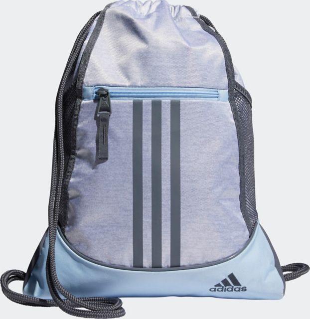 adidas Alliance II Sackpack - White Jersey/ Glow Blue/ Onix
