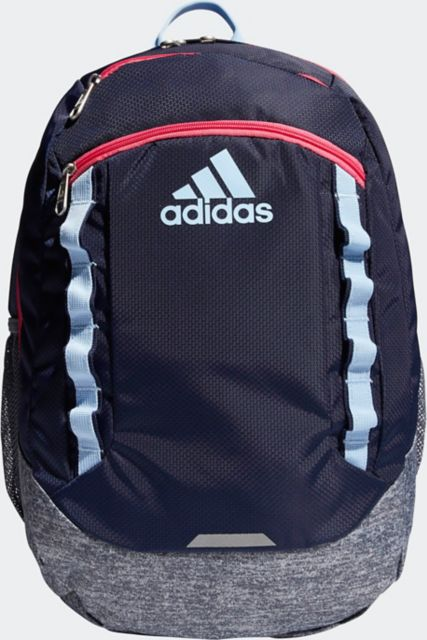 adidas Excel V Backpack - Collegiate Navy/ Onix Jersey/ Glow Blue/ Real Pink