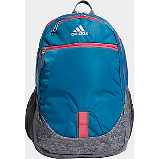 adidas Foundation V Backpack - Active Teal/ Onix Jersey/ Real Pink ...