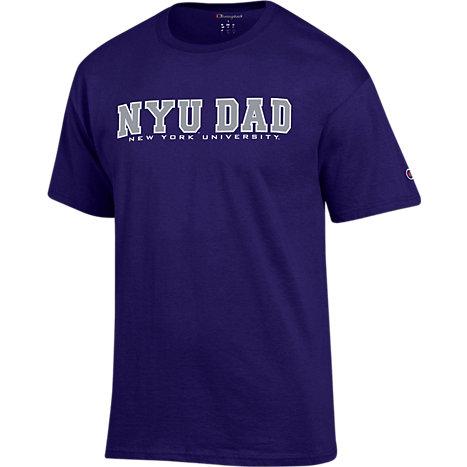 9bcc994de2a Champion New York University Dad Short Sleeve T-Shirt