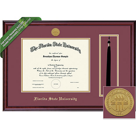 framing success florida state university 11x14 classic diploma and tassel frame - Diploma Tassel Frame