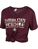d765583266997 Florida State University Women s Slim Fit Knotted Short Sleeve t-Shirt