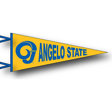 angelo state university 6 x 15 pennant angelo state university
