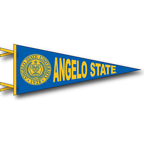 angelo state university 12 x 30 pennant angelo state university