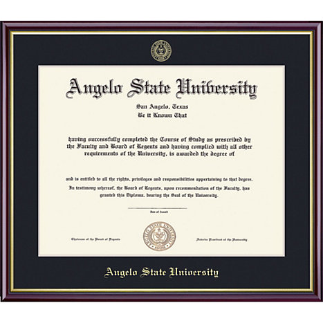 Angelo State University 11\'\' x 14\'\' Academic Diploma Frame | Angelo ...