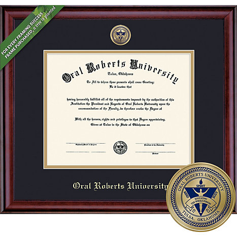 Oral Roberts University Bachelors 85 X 11 Classic Diploma