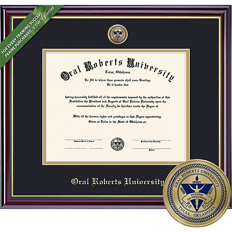 Oral Roberts University Doctor 11\'\' x 14\'\' Windsor Diploma Frame ...