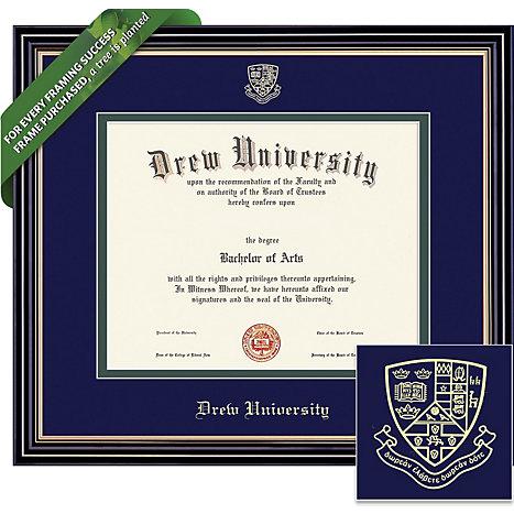 Drew University 8\'\' x 10\'\' Prestige Diploma Frame | Drew University