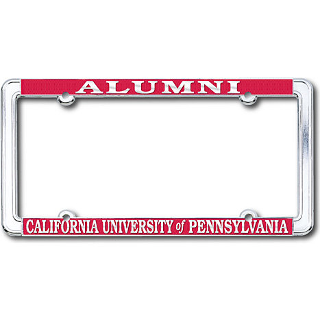 California University of Pennsylvania Alumni Polished Chrome License ...