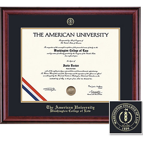 Au classic school of law diploma frame american university for American classic frames