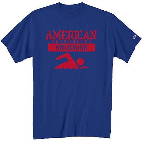 American University Swimming T Shirt American University