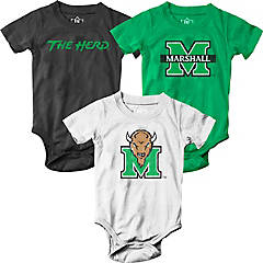 Duola Marshall Thunderings Herd Football For 6-24 Months Newborn Funnies Long Sleeved Tee White