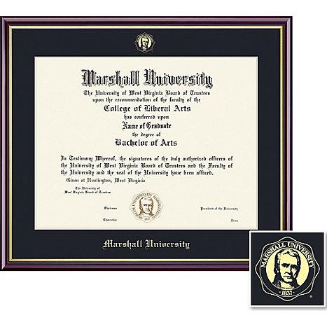 framing success marshall university 85 x 11 value price scholastic diploma frame - Wvu Diploma Frame
