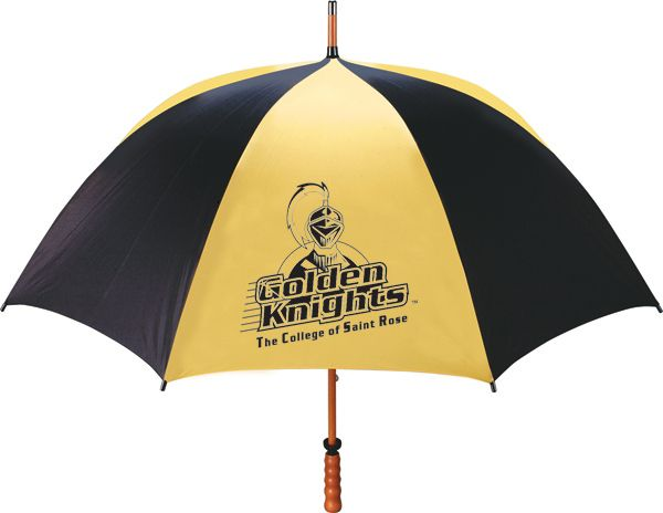 The College Of Saint Rose Golden Knights 62 Windshaft Umbrella College Of Saint Rose