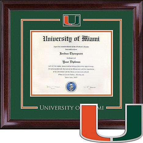 University of Miami, Spirit Diploma Frame. Bachelors | University Of ...