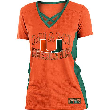 7189967bc Product  University of Miami Hurricanes Women s Training Camp Jersey T-Shirt