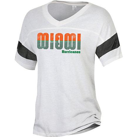 Product  University of Miami Women s Powder Puff Eco-Jersey T-Shirt 920ddf0ea3