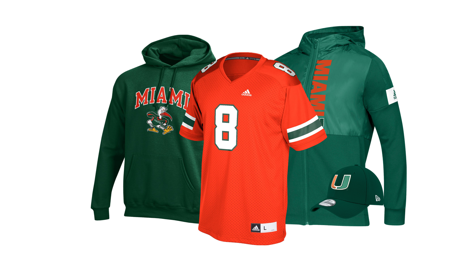 buy online 5e93a a9071 Miami Hurricanes Apparel   Gear, Merchandise & Gifts