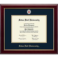 Seton Hall University Diploma Frame School Lithograph Major Logo SHU Degree Display Certificate Plaque Graduation Gift Black Matted College University Diploma Frames