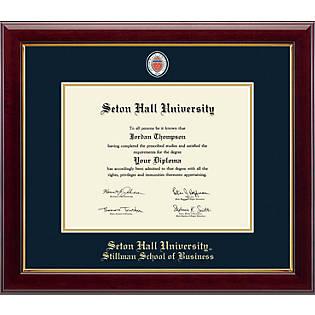 Church Hill Classics Masterpiece Diploma Frame Bachelors Masters Online Only Seton Hall University