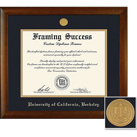 University of California - Berkeley 8.5x11 Bamboo Diploma Frame ...