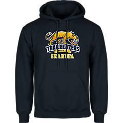 Massachusetts College Youth Gold Fleece Hoodie Soccer Half Ball Design