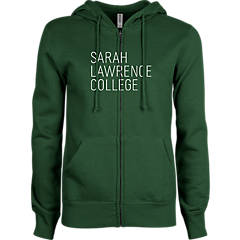 Sarah Lawrence Youth Dark Green Fleece Hoodie Cross Country