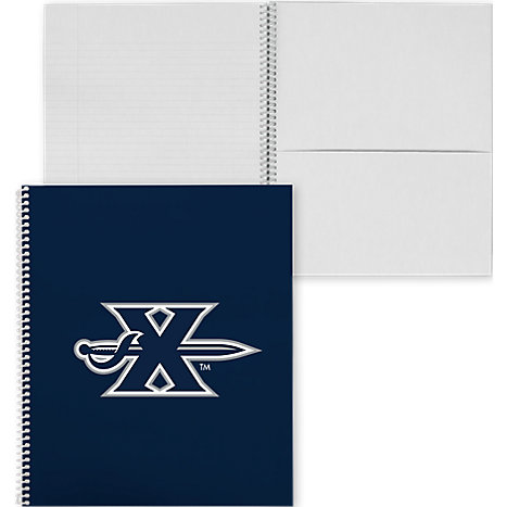 Xavier College Spiral Notebook w/Clear Coil X w/ Sword - ONLINE ONLY