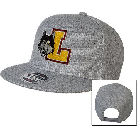 a90e1f20ec391 Loyola Chicago Heather Wool Blend Flat Bill Snapback Hat - ONLINE ONLY