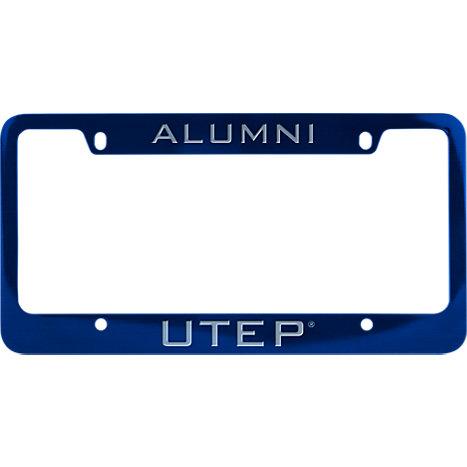 UTEP Alumni Metal Blue License Plate Frame Alumni - ONLINE ONLY ...