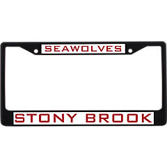 Chrome with Laser Etched Letters Stony Brook University Seawolves Alumni License Plate Frame