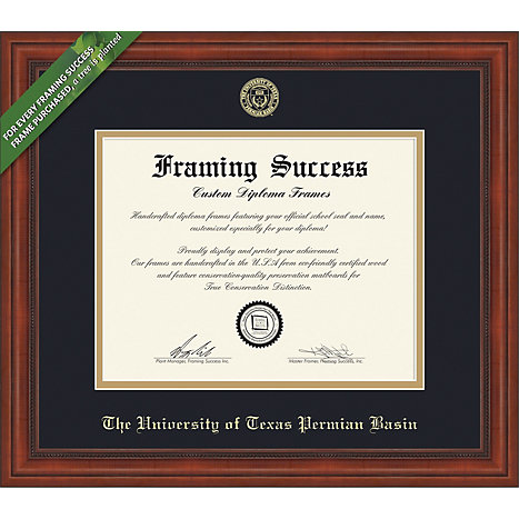 The University Of Texas Of The Permian Basin Millenium Diploma Frame ...