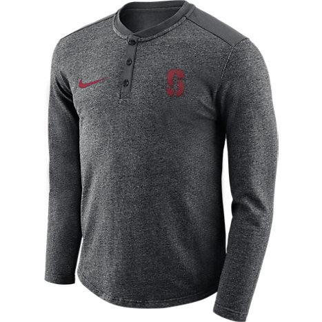 Stanford University Long Sleeve Henley T Shirt Stanford