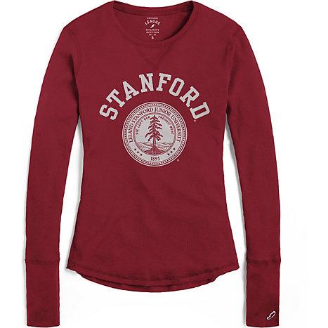 Stanford university women 39 s long sleeve waffle t shirt for Stanford long sleeve t shirt