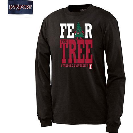 1608j stanford university men 39 s fear the tree long sleeve for Stanford long sleeve t shirt