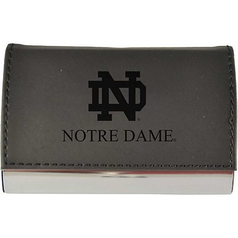 Lxg University Of Notre Dame Leather Accent Business Card Holder