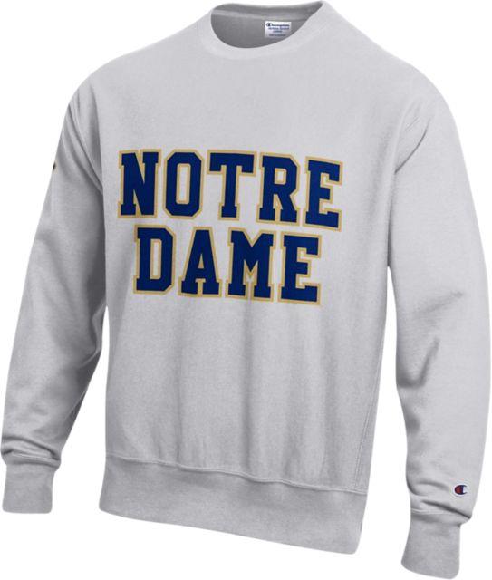 699a913823cd University of Notre Dame Reverse Weave Crew Neck Sweatshirt:University Of Notre  Dame
