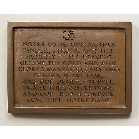 wild gooseour mother plaque f1833j university of notre dame