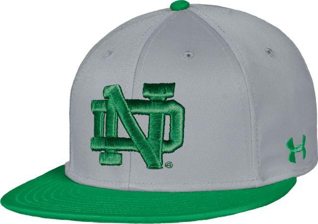 4960e2bbdbd8f9 University of Notre Dame Baseball Flat Bill Cap:University Of Notre Dame